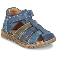 Shoes Boy Sandals Citrouille et Compagnie FRINOUI Marine / Grey