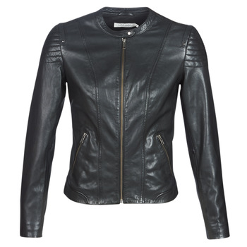 material Women Leather jackets / Imitation leather Naf Naf CLIM Black