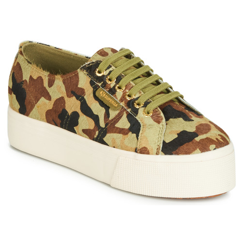 Shoes Women Low top trainers Superga 2790 LEAHORSE Camo