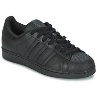 Shoes Low top trainers adidas Originals SUPERSTAR FOUNDATION Black