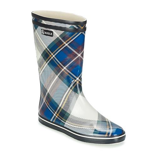 Shoes Women Wellington boots Aigle MALOUINE PRINT MARINE