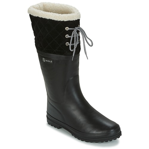 Shoes Women Wellington boots Aigle POLKA GIBOULEE Black