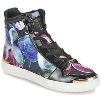 Shoes Women High top trainers Ted Baker MADISN Black / Multicolour