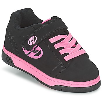 Shoes Girl Wheeled shoes Heelys DUAL UP Black / Pink