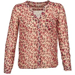 material Women long-sleeved shirts Best Mountain AZARI Beige / Red