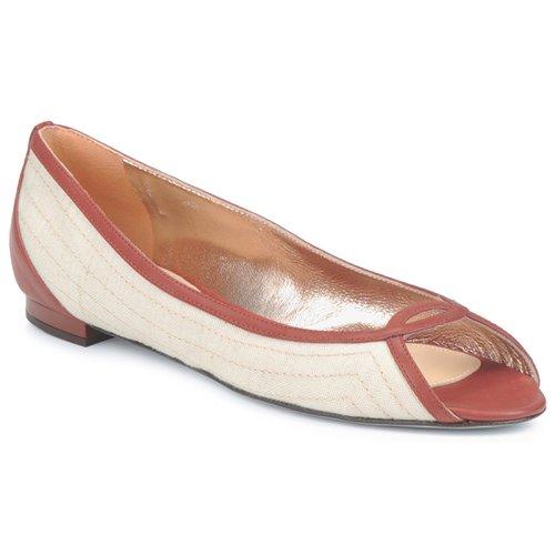 Shoes Women Ballerinas Azzaro JOUR BEIGE / CAMEL