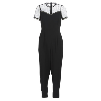 material Women Jumpsuits / Dungarees MICHAEL Michael Kors LACE YOKE JUMPSUIT Black