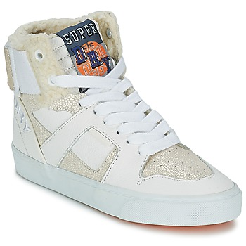 Shoes Women High top trainers Superdry MARIAH HIGH TOP White