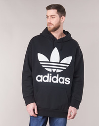 material Men sweaters adidas Originals TREF OVER HOOD Black