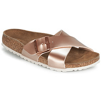 Shoes Women Mules Birkenstock SIENA Pink / Gold