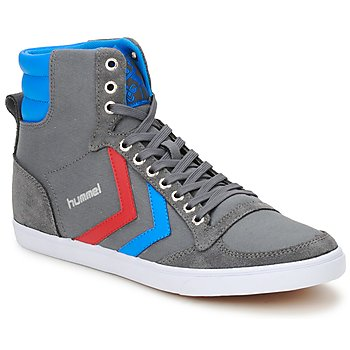 Shoes High top trainers Hummel TEN STAR HIGH CANVAS Grey / Blue / Red