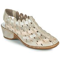 Shoes Women Sandals Rieker ROBERTO Silver