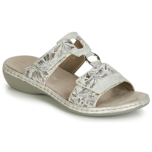 Shoes Women Mules Rieker GRAFFON Grey