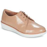 Shoes Women Derby shoes FitFlop DERBY CRINKLE PATENT Taupe