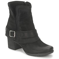 Shoes Women Ankle boots Dream in Green VINEL Black