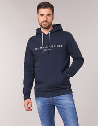 material Men sweaters Tommy Hilfiger TOMMY LOGO HOODY Marine
