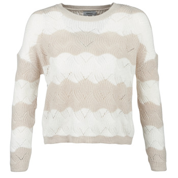 material Women jumpers Only ONLKARO Beige / Ecru