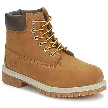 Shoes Children Mid boots Timberland 6 IN PREMIUM WP BOOT RUST / Nubuck / With / Honey