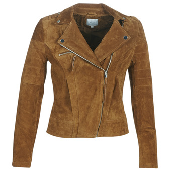 material Women Leather jackets / Imitation leather Vila VICRIS Cognac