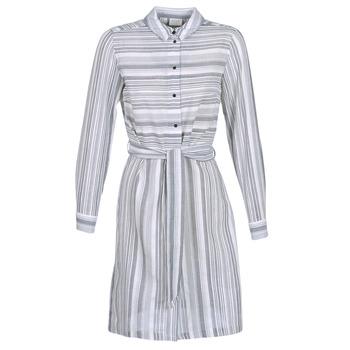 material Women Short Dresses Vila VINAVIDA White / Blue