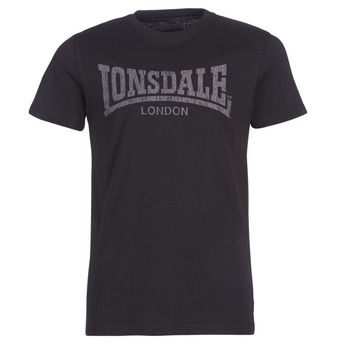 material Men short-sleeved t-shirts Lonsdale LOGO KAI Black