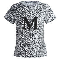 material Women short-sleeved t-shirts Marciano RUNNING WILD Black / White