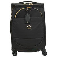 Bags Soft Suitcases Delsey MONTROUGE CAB EXTENSIBLE 4R 55CM Black