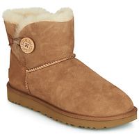 Shoes Women Mid boots UGG MINI BAILEY BUTTON II Camel