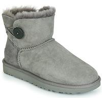 Shoes Women Mid boots UGG MINI BAILEY BUTTON II Grey