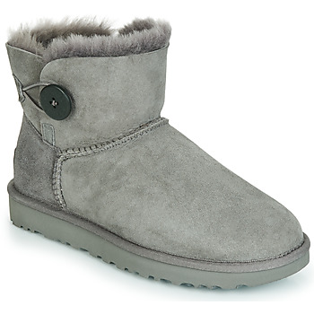 Shoes Women Mid boots UGG MINI BAILEY BUTTON II Grey