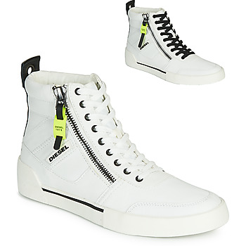Shoes Men High top trainers Diesel S-DVELOWS White