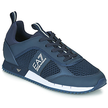 Shoes Men Low top trainers Emporio Armani EA7 BLACK&WHITE LACES U Blue