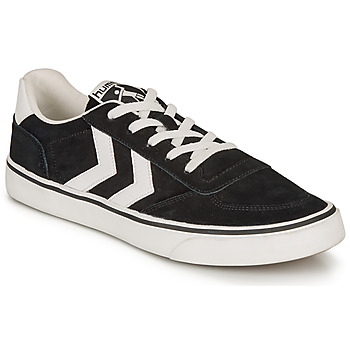 Shoes Low top trainers Hummel STADIL 3.0 SUEDE Black / White