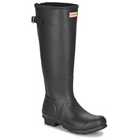 Shoes Women Wellington boots Hunter ORIGINAL BACK ADJUSTABLE Black
