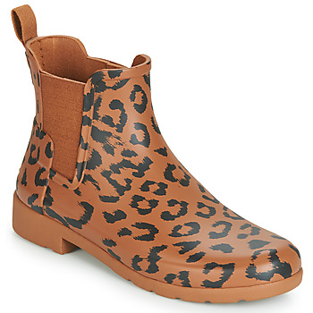 Shoes Women Wellington boots Hunter ORG REFINED CHELSEA HYBRD PRNT Leopard