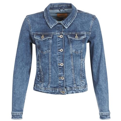 material Women Denim jackets Only ONLTIA Blue / Medium