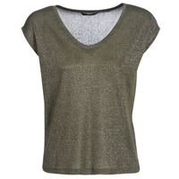material Women short-sleeved t-shirts Only ONLSILVERY Kaki