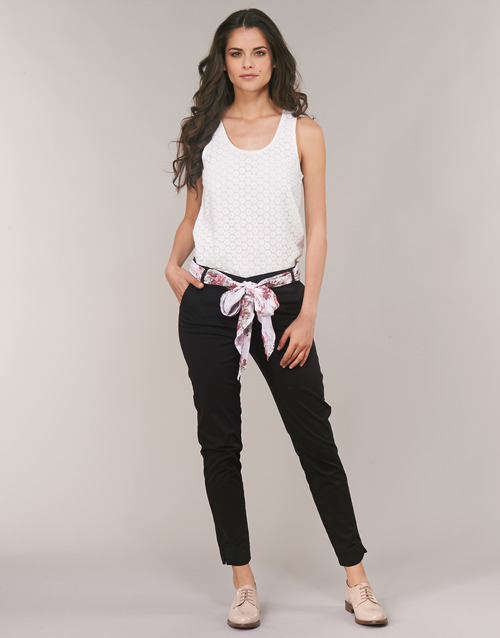 material Women 5-pocket trousers Casual Attitude JIYOO Black