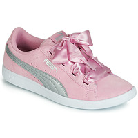 Shoes Girl Low top trainers Puma JR PUMA VIKKY RIBBON.LILAC Pink