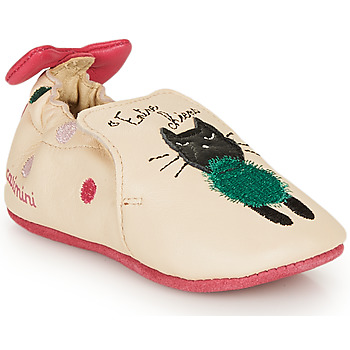 Shoes Girl Slippers Catimini CALICETTE Beige / Pink