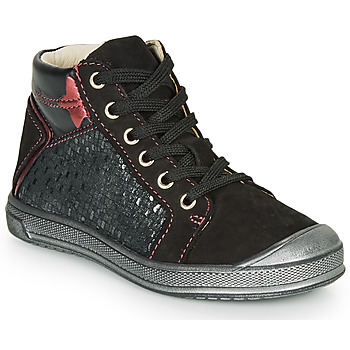 Shoes Girl High top trainers GBB ORENGETTE Black / Silver