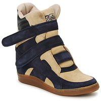 Shoes Women High top trainers Buffalo GINGERWA Marine / Beige