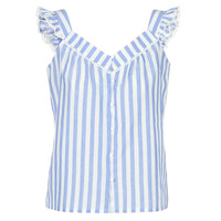 material Women Blouses Betty London KOUDEI Blue / White