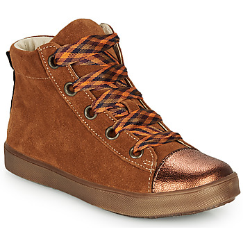 Shoes Girl High top trainers GBB OUSTILLE Cognac