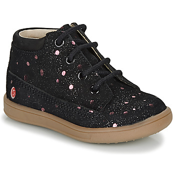 Shoes Girl Mid boots GBB NINON Black / Pink