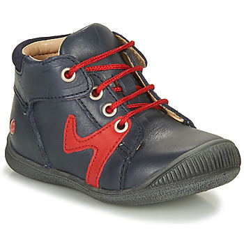 Shoes Boy Mid boots GBB OVELO Marine / Red
