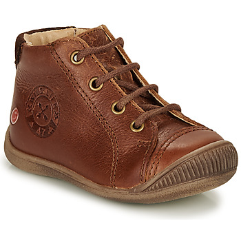 Shoes Boy High top trainers GBB NOE Brown