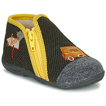 Shoes Boy Slippers GBB OUBIRO Black / Grey