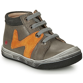Shoes Boy High top trainers GBB OLINOU Grey / Ocre tan
