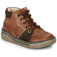 Shoes Boy High top trainers GBB OULAN Brown